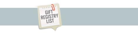 Gift Registry List
