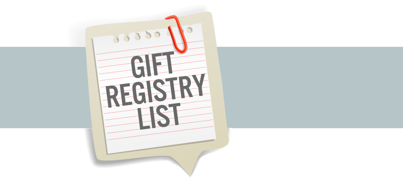 Wedding Gift Registry List : Registry List